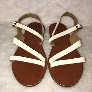 White strappy Lucky Brand sandals